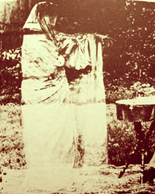 'The Spirit in the Garden' - Victorian hoax ghost photograph