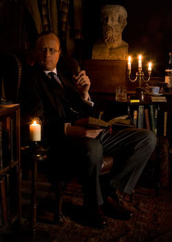 Robert Lloyd Parry as M.R. James - photo by Shelagh Bidwell