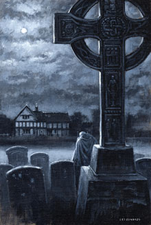 'There was a man dwelt by a churchyard' by Les Edwards (copyright Les Edwards)